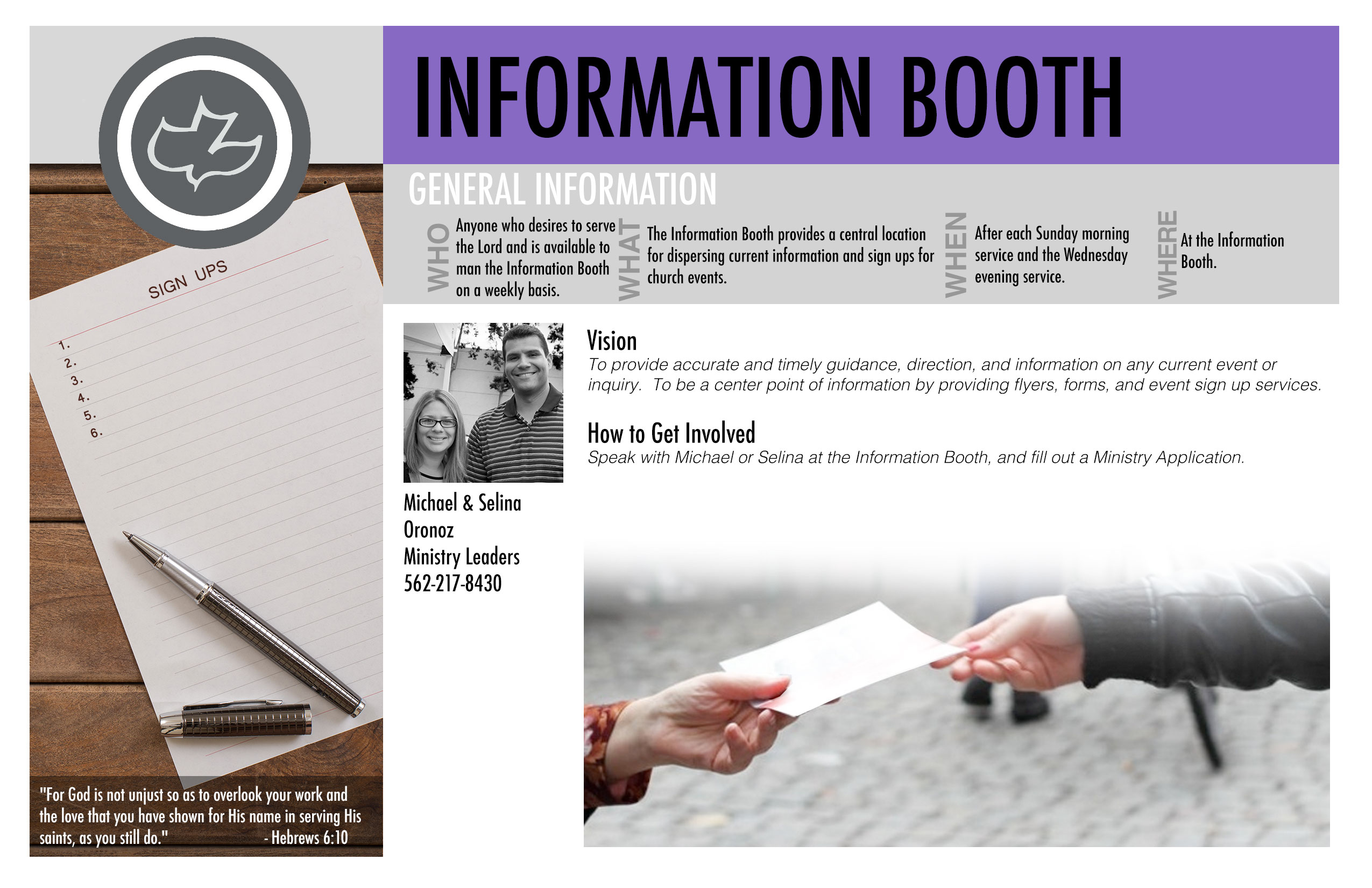 And general information signs our signs come in a variety of materials - Information Booth